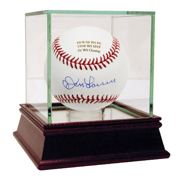 Don Larsen Autographed and Engraved Career Stats MLB Baseball (MLB Auth)
