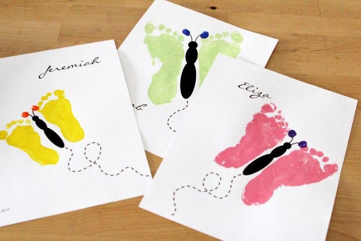 Footprint Butterfly {Printable}