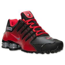 MEN'S NIKE SHOX NZ RUNNING SHOES ~ BLACK/COOL GREY/UNIVERSITY RED ~ NEW