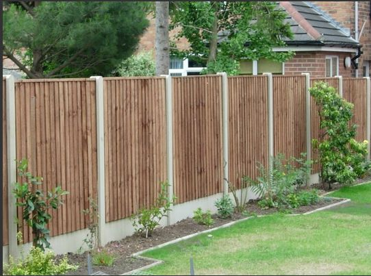 Nice looking fence design for your yard building works for Cheap fence screening