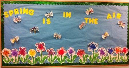Spring Butterfly & Flower Bulletin Board