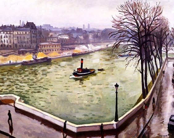 Albert Marquet - Paris au quai d'Orléans vu du quai de Béthune (1914)