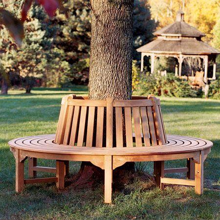 Circular Bench - Tree Bench - Teak Tree Seating - Country Casual