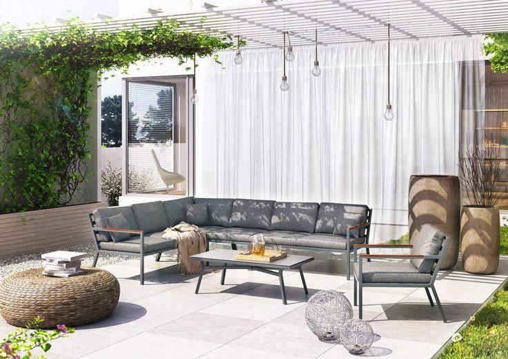 Na zdjęciu meble ogrodowe - MEBLE OGRODOWE LUGO - STONE&WOOD