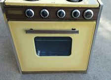 "There are a handful of vintage ovens on ebay; most are ""local pickup only"" and aren't AMAZING, but might be worth considering :) (will likely be about the same as a new one)  ----  Working Vtg Camper Mini Gas Stove Premier 70s Gold Shasta Trailer"