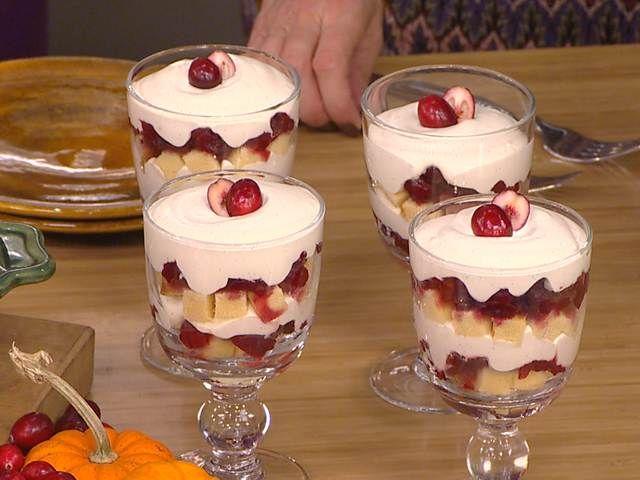 Quick cranberry trifles