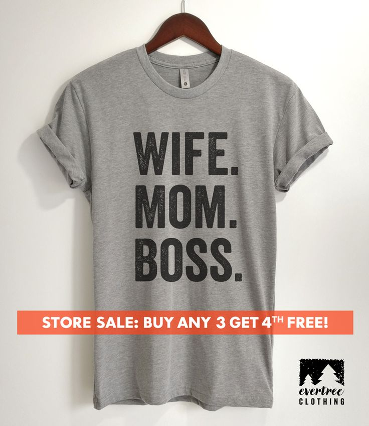 Wife Mom Boss T-shirt, Ladies T-shirt, Boss Mom T-shirt, Gift for Wife, Unisex