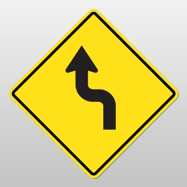 SHARP REVERSE CURVE Sign