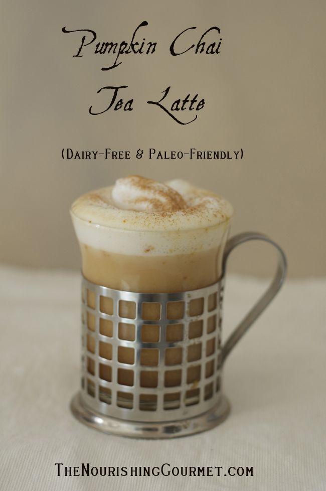 Pumpkin Chai Tea Latte (Dairy-free & Paleo)