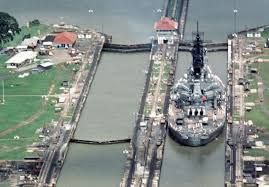 Image result for uss missouri panama canal