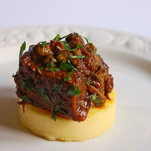 Tonight I made beef stew with potatoes and carrots -- I substituted beef stock for the red wine...great recipe!