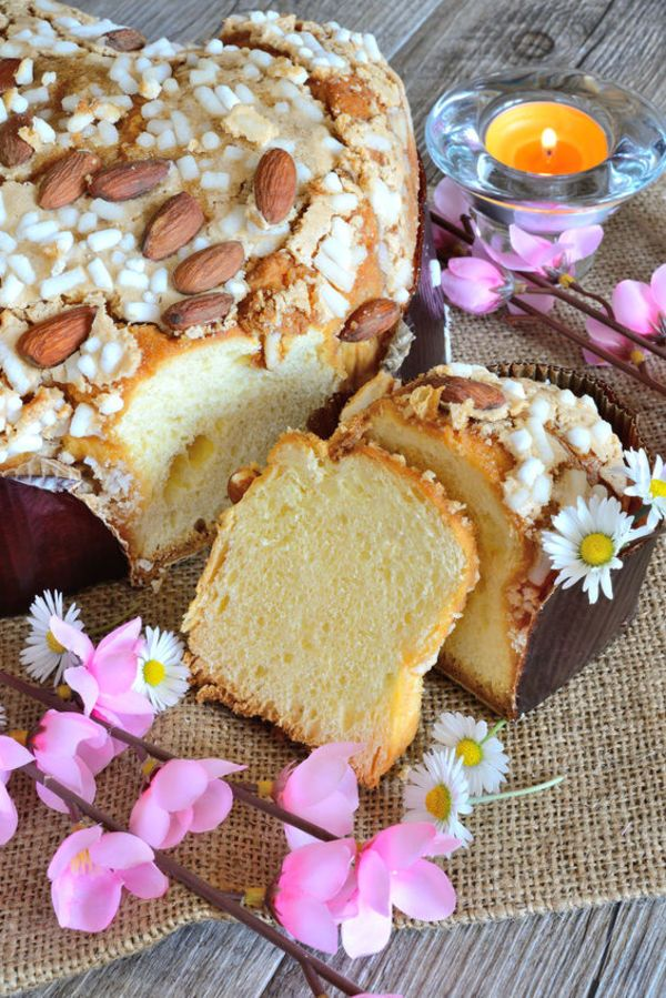 Colomba Easter Cake  Ingredients:  Biga: 1 tablespoon yeast 1 cup water zest of 1 orange 1/2 cup flour  Dough: 1/2 tablespoon yeast 1 cup mi...