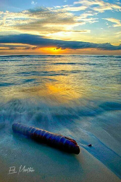 Sunset view at Base G beach, Jayapura, Papua - Indonesia | photo by Ed Marthen R