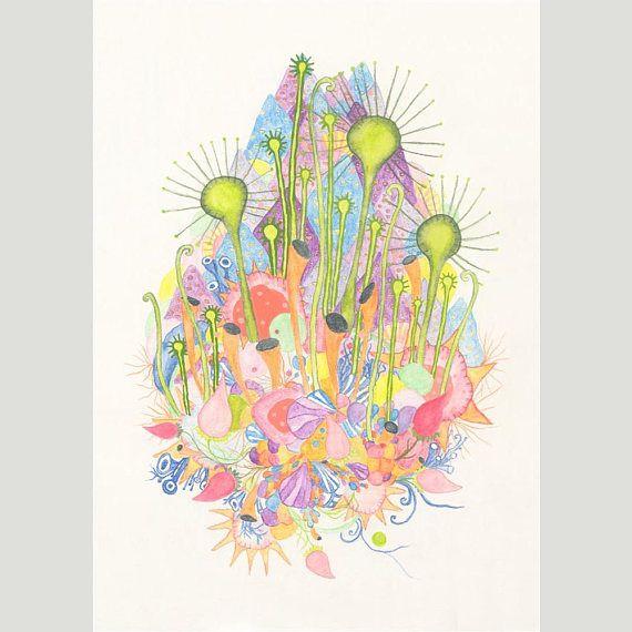 A4 Giclee Print: Growth Bud MelanieReevesArt