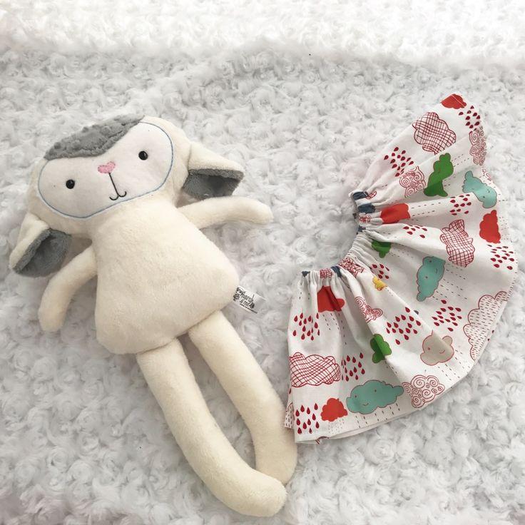 Spring lamb dress up doll