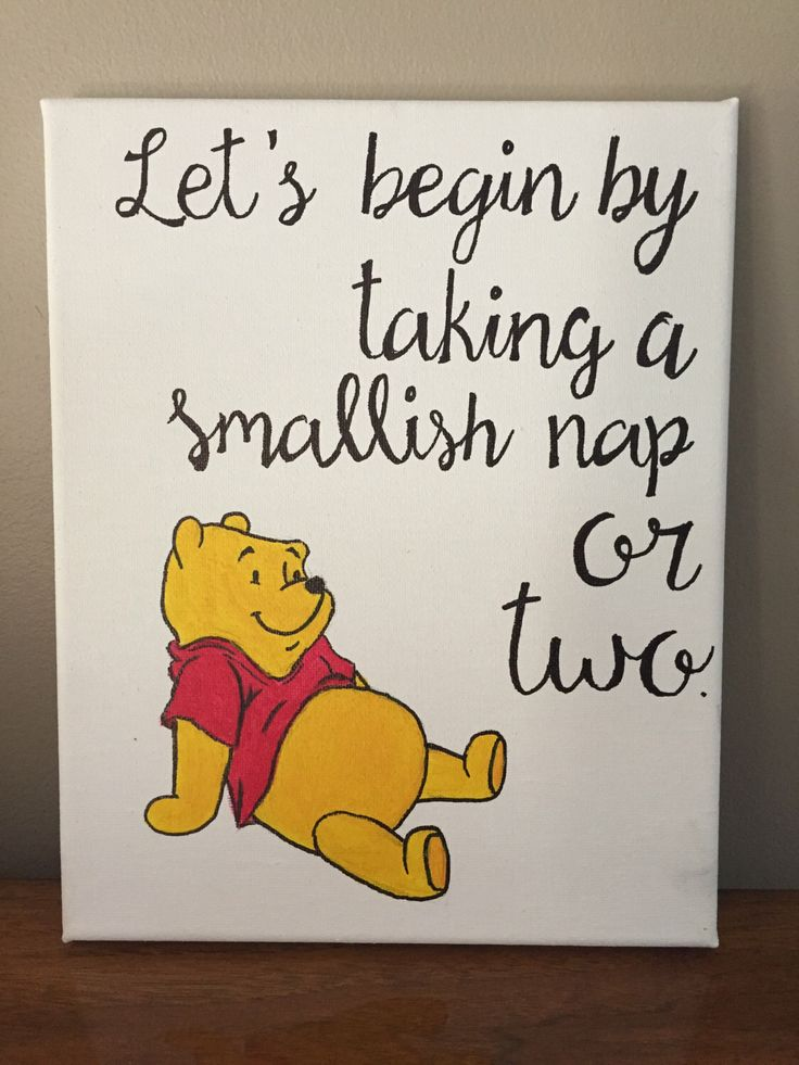 Winnie the Pooh Quote Canvas by TheLazyPaintbrush on Etsy https://www.etsy.com/listing/240160083/winnie-the-pooh-quote-canvas