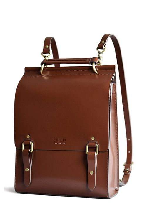 VIEWINBOX - Solid Color Buckle Design Backpack