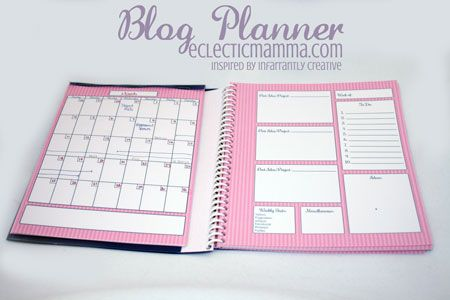 Blog Planner (based off of Infarrantly Creative's) with my version of it up for download!