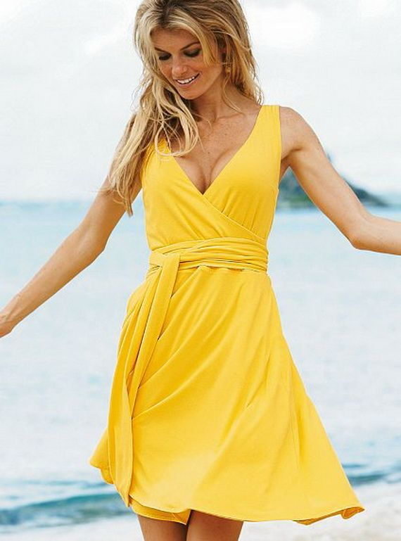 1000  ideas about Yellow Beach Dresses on Pinterest - Linen ...