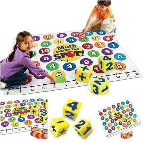 Cool-Math-Games-For-Kids-Learning-Fun-Brain-Educational-Floor-Foam-Mat-Cube-New
