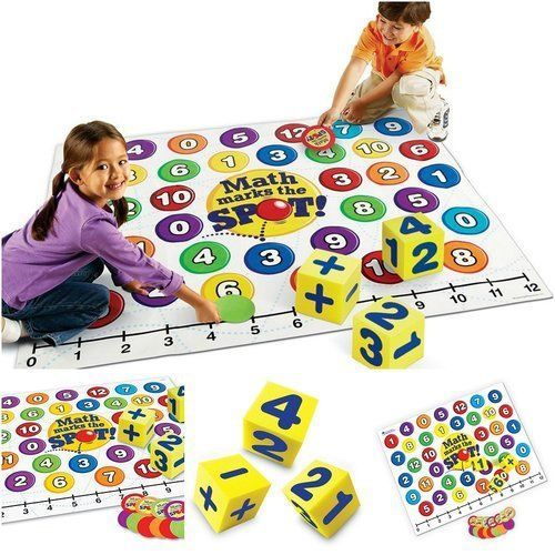 Cool-Math-Games-For-Kids-Learning-Fun-Brain-Educational-Floor-Foam-Mat-Cube-New