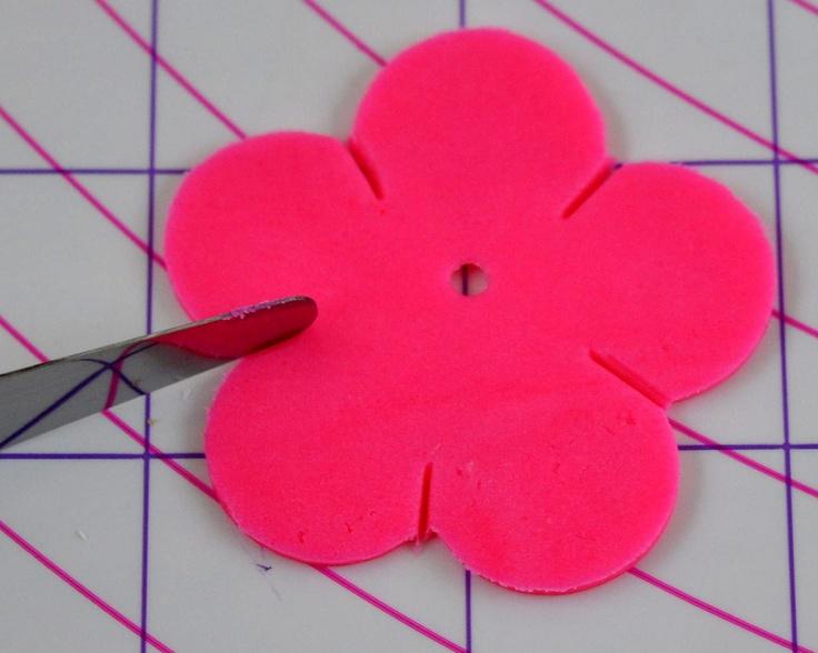 How to make hibiscus fondant flowers plus flip flops for Hawaiian theme cake