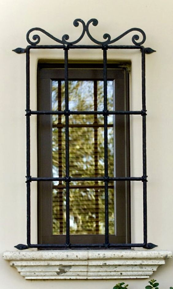 27 best wrought iron window grill images on pinterest. Black Bedroom Furniture Sets. Home Design Ideas