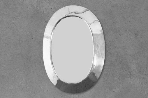 Nickel Oval Mirror