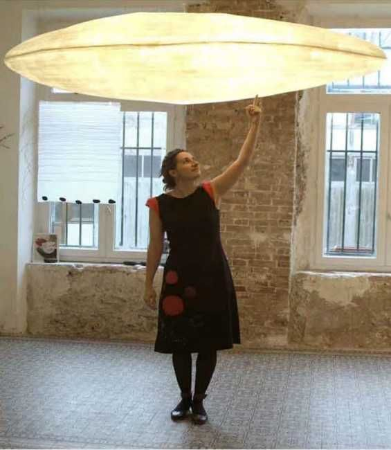 Unique Lighting Fixtures with Handmade Paper Lamp Shades by Celine Wright