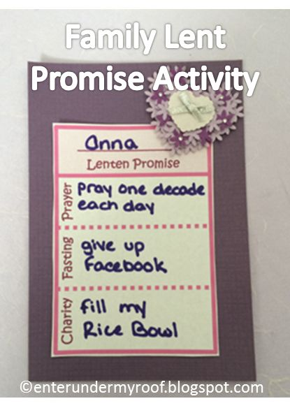 "Keeping a Lenten promise, once you determine what it is, is always easier with the support of others. So, we created a ""Lent Promise"" activi..."