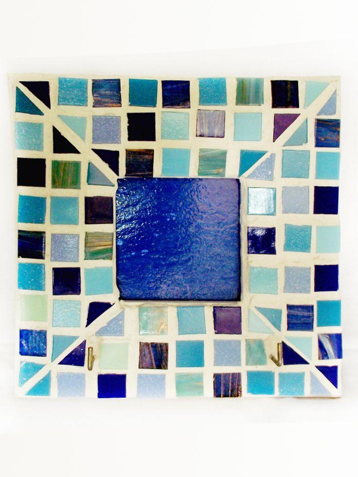 Blue+Mosaic+Key+Ring+Holder