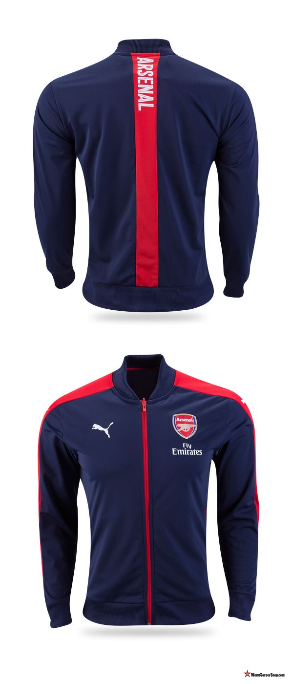Arsenal 2016/17 Home Stadium Jacket from Puma. Christmas gift and stocking stuffer ideas for the Arsenal FC fan at WorldSoccerShop.com