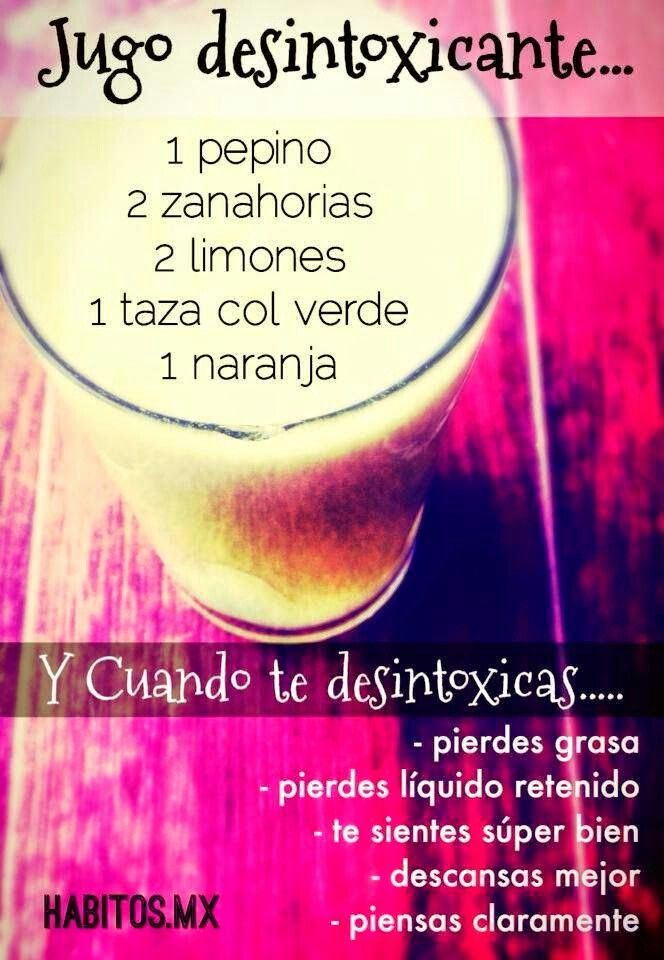juice to lost weith... 1 cucumber 2 carrots....2 limons...a cup of green cabbage 1 orange...( sandra andrade s.) traduction