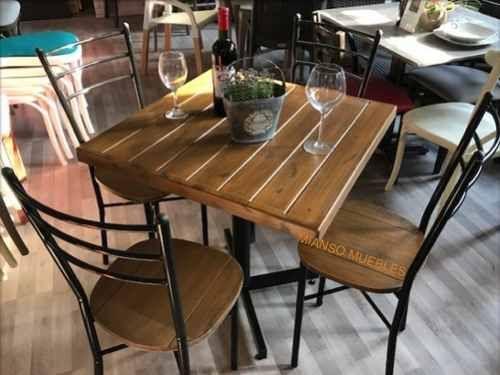 Mesa de madera sin sillas restaurantes bares y cafeterias - Sillas para cafeterias ...