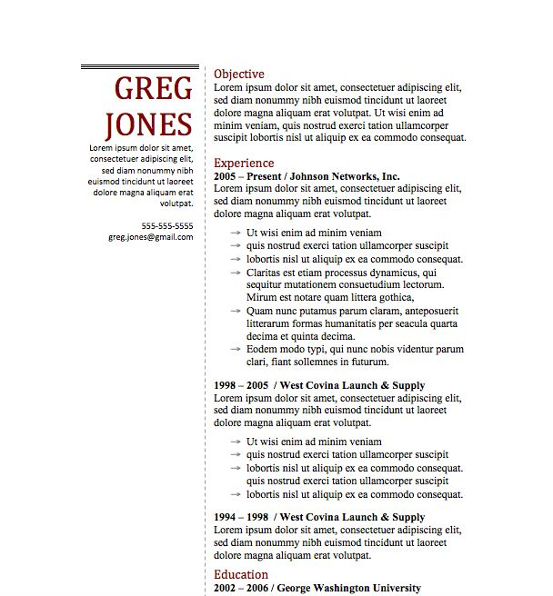 53 best resumes images on Pinterest Microsoft word, Resume - format of a simple resume