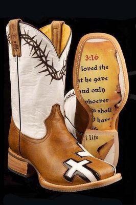 John 3:16 Tin Haul boots