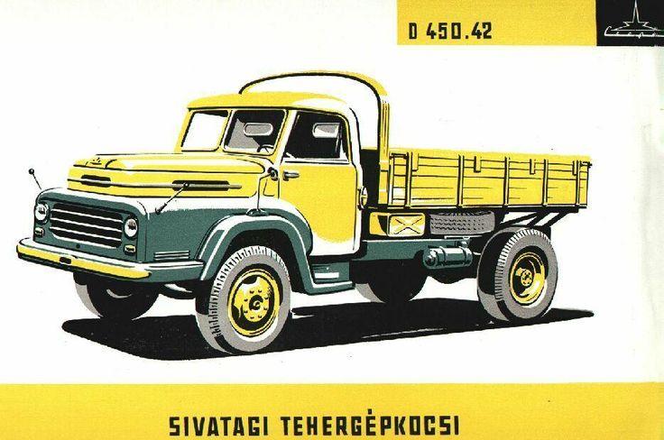 1957  Csepel D-450.42 Чепель Д-450 1957 — 1963. Технички Икарус на шасси Чепеля поставлялись в СССР в больших количествах и помогали поддерживать техническое состояние венгерских авьобусов