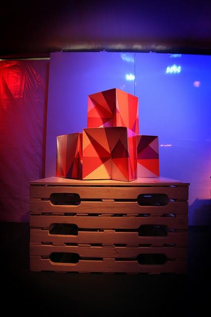 Tabouret de carton (cardboard stools) by ottopapax (www.ottopapax.com/) Photo © Barbara Haemmig de Preux / C2-MTL. #C2MTL