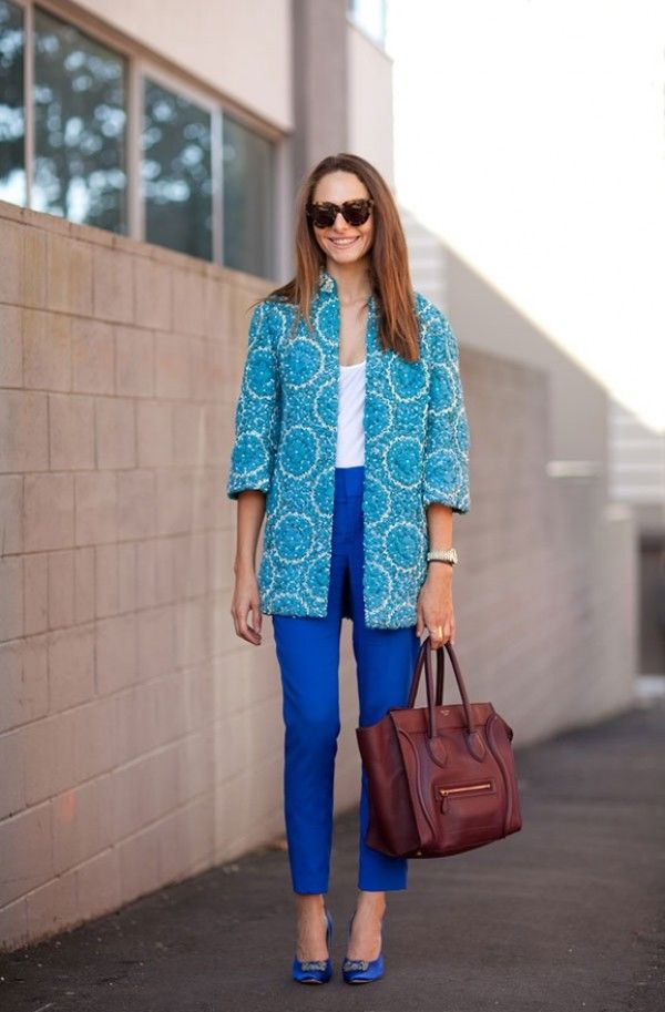 got the blues: Fashion Week, Style Inspiration, Color, Fashion Week, Street Style, Cobalt Blue, Outfit, Fashion Inspiration, Coats