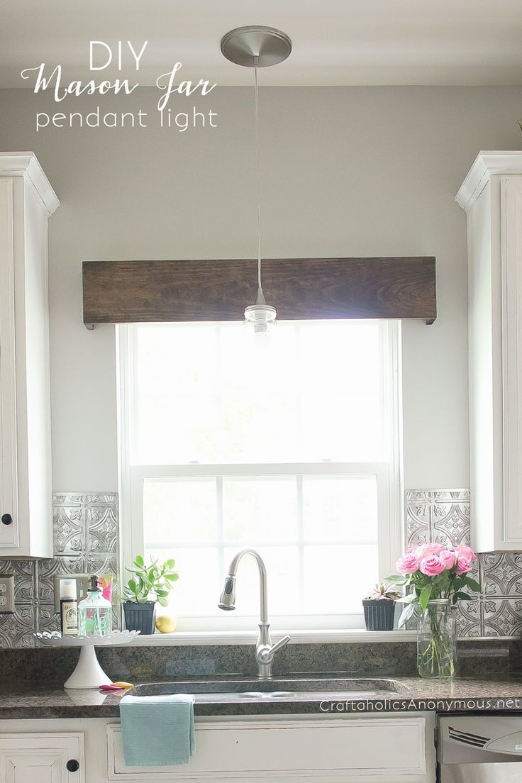 "How to Paint Kitchen Cabinets with Chalk Paint PLUS I LOVE that ""metal"" backsplash!!"