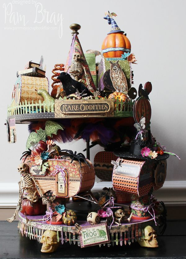 Halloween vintage carousel using Steampunk Spells and Rare Oddities by Pam Bray #graphic45