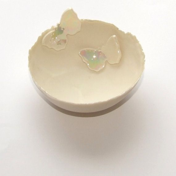 Butterfly Medium Porcelain Decorative Bowl  by melissaceramics, £25.00