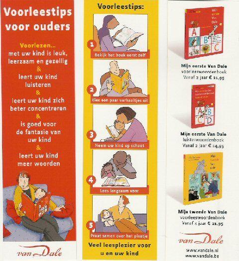 leuke boekenlegger, met informatie over voorlezen