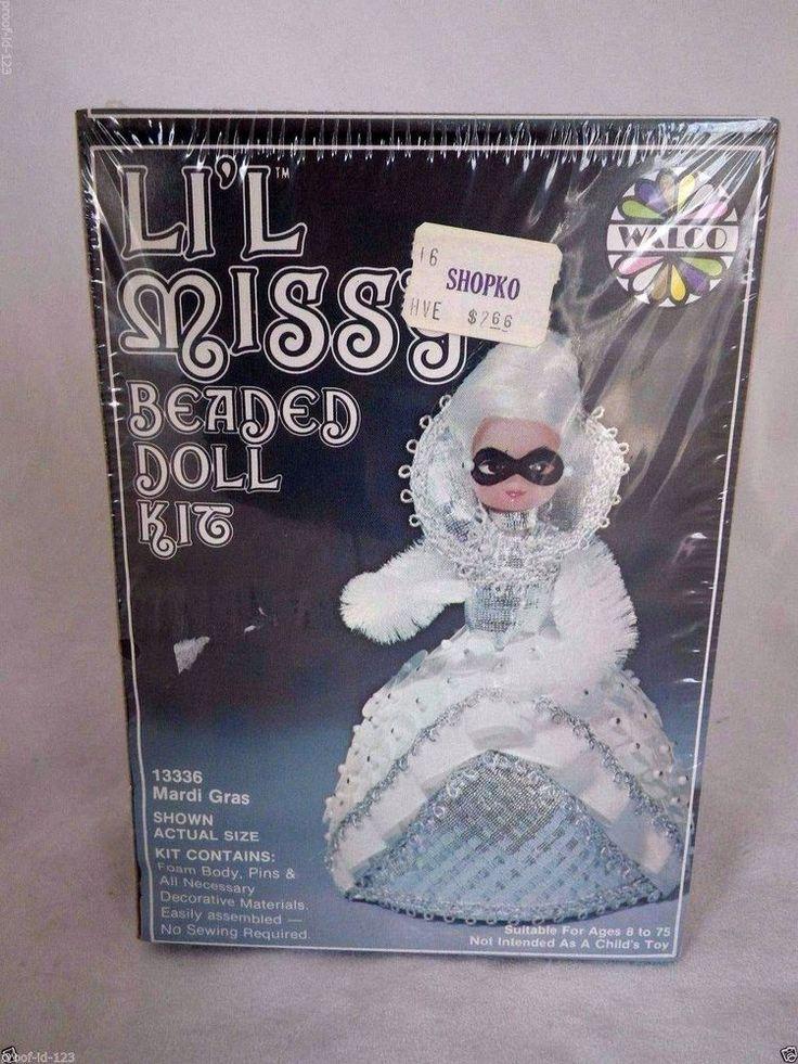 lil beaded doll kit 13336 mardi gras 1976 dolls