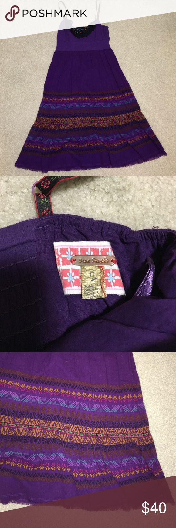 Free people purple dress Free people plum colored spaghetti strap dress.  Adjustable straps. Smocked top. Free People Dresses Midi