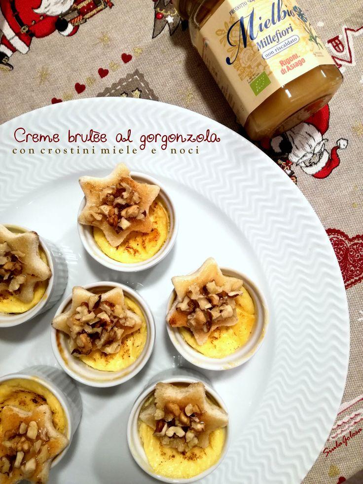 Un antipasto chic e saporito, creme brulèe al gorgonzola con crostini al miele e noci, la ricetta è sul blog!