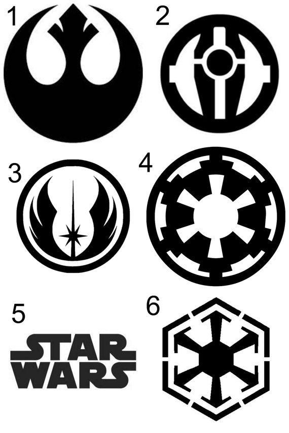 Star Wars Decals. Rebel Alliance, Sith, Jedi, Old Republic, Imperial, or Star Wars Sticker