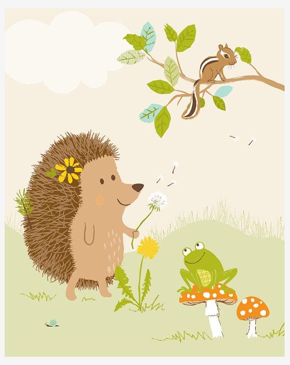 Great print for woodland nursery