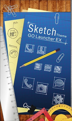 Sketch GO Getjar Theme v1.01 apk  REQUIRES ANDROID:2.0 and up  Overview:A Sketch GO Launcher EX Getjar Theme specially designed for GO Launcher EX!