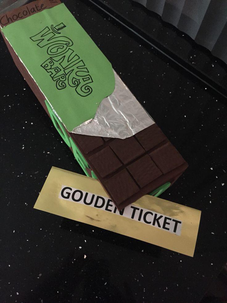 Surprise chocoladereep met Gouden Ticket - Willie Wonka